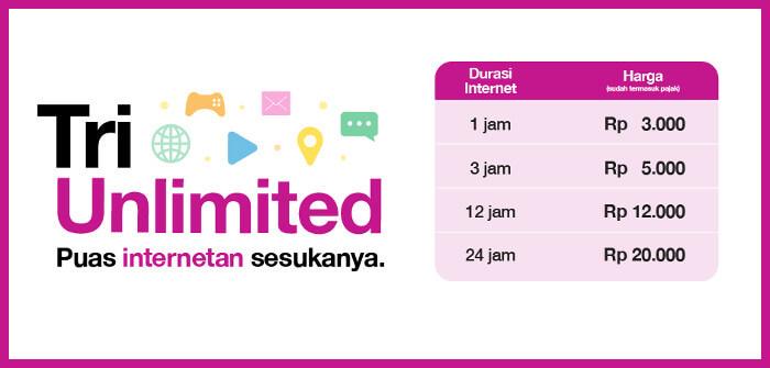 Cara Daftar Paket 3 Unlimited Terbaru 2019