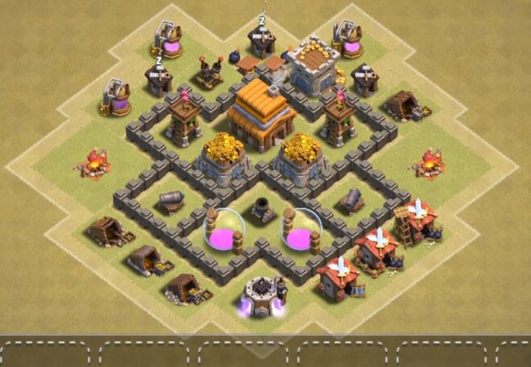 base coc th 4 terkuat